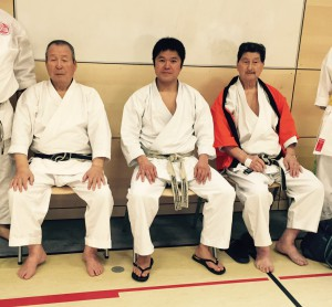 von links: Sensei Nagai, Sensei Murakami, Sensei Asano